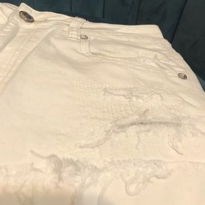 American Eagle Outfitters Shorts - American Eagle High Rise Festival Shorts White